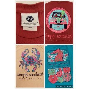Tops - Simply Southern bundle 3 t-shirts sz L